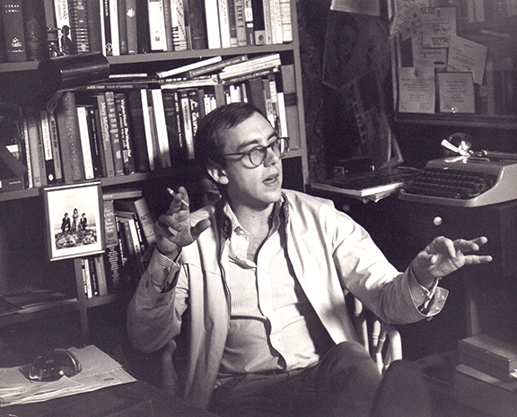 Mart Crowley in his office