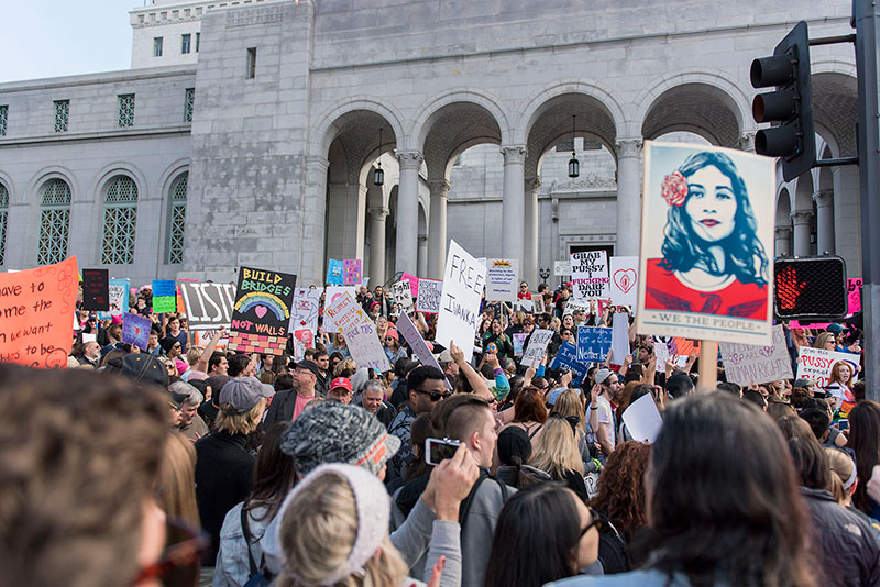 L.A. Women's March which took place on January 21, 2017 taken by Miriam Bribiesca