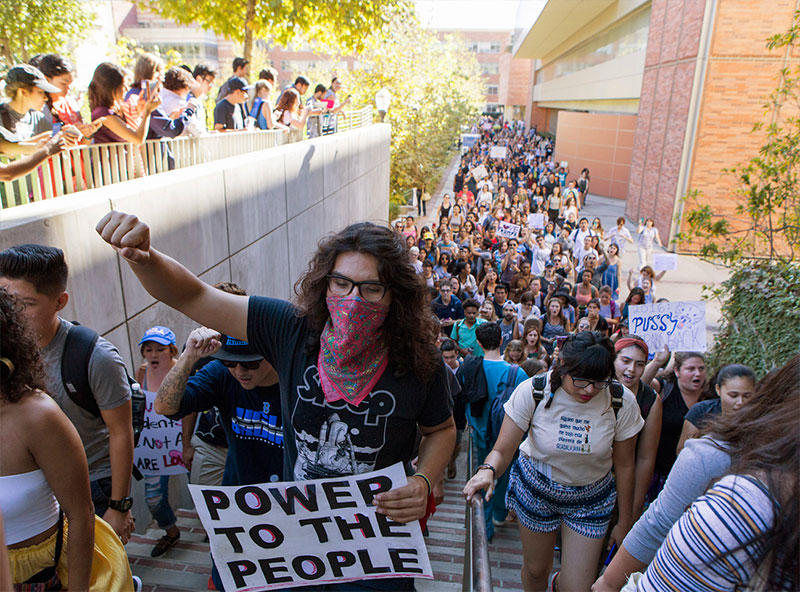Protesters at UCLA 2017