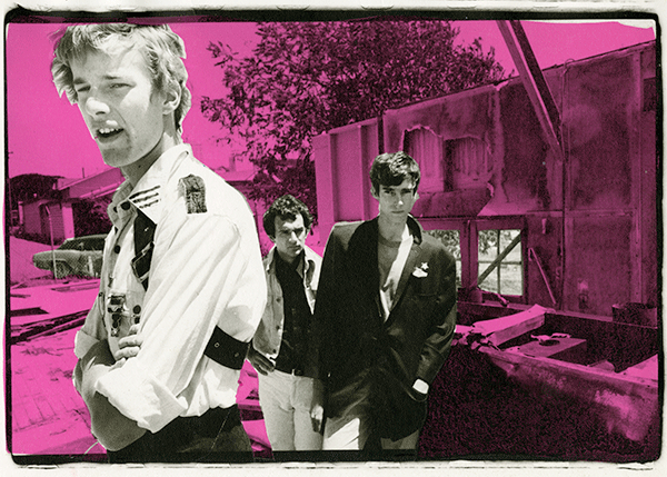 This photograph of The Dils appears in black and white in Search & Destroy Issue #2.