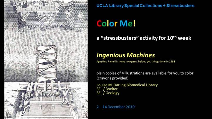 """Color Me! Stressbusters Activity """"Ingenious Machines"""""""