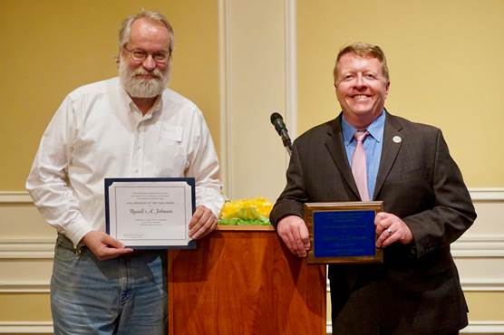 Marty Brennan and Russell Johnson, Recipients of the 2019 Librarian of the Year Award