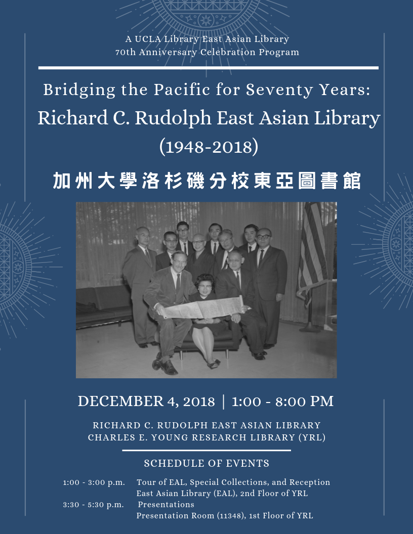 Bridging the Pacific for Seventy Years: The Richard C. Rudolph East Asian Library