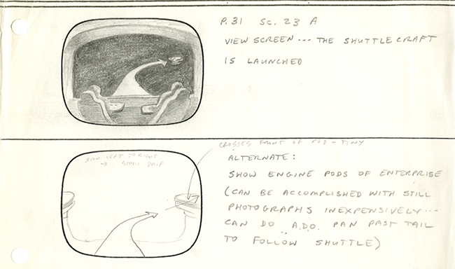 "Image 1 of 4 of hand-illustrated storyboard pages for the episode ""Coming of Age."""