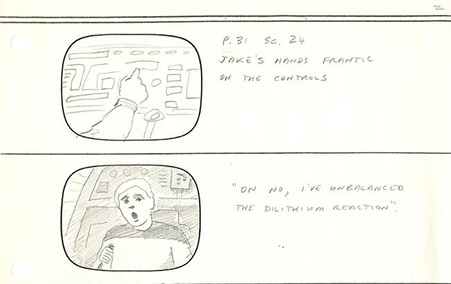"Image 2 of 4 of hand-illustrated storyboard pages for the episode ""Coming of Age."""