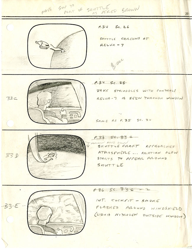 "Image 3 of 4 of hand-illustrated storyboard pages for the episode ""Coming of Age."""