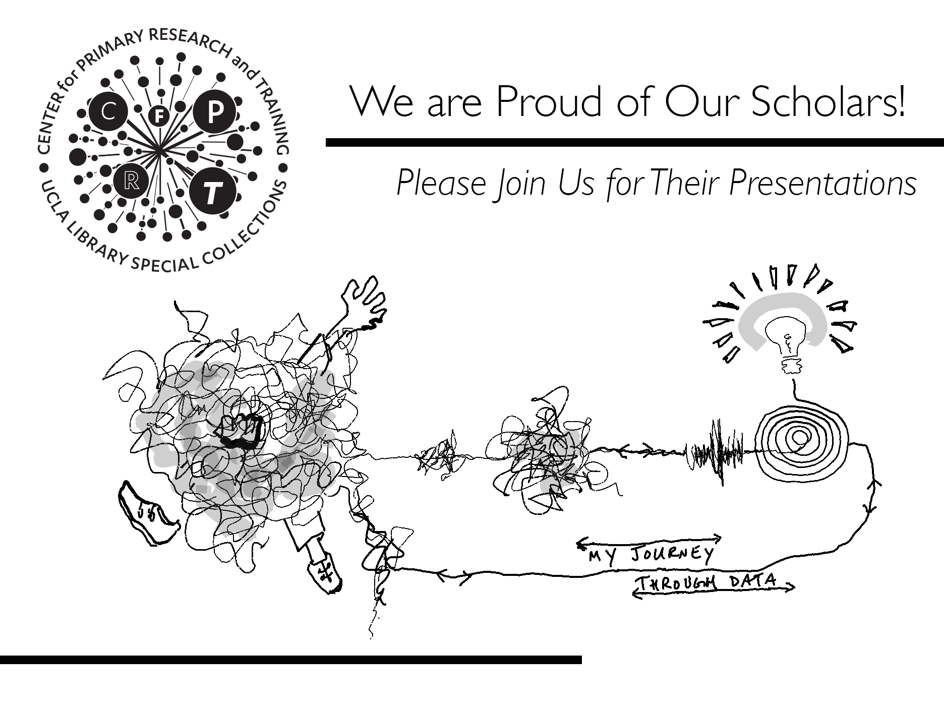 CFPRT Logo and line drawing of my journey throuh data