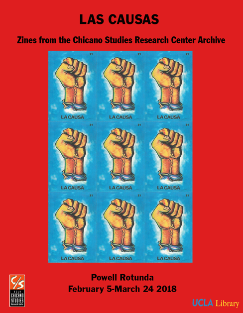 """Las Causas"" Chicanx Zine Exhibit Flyer"