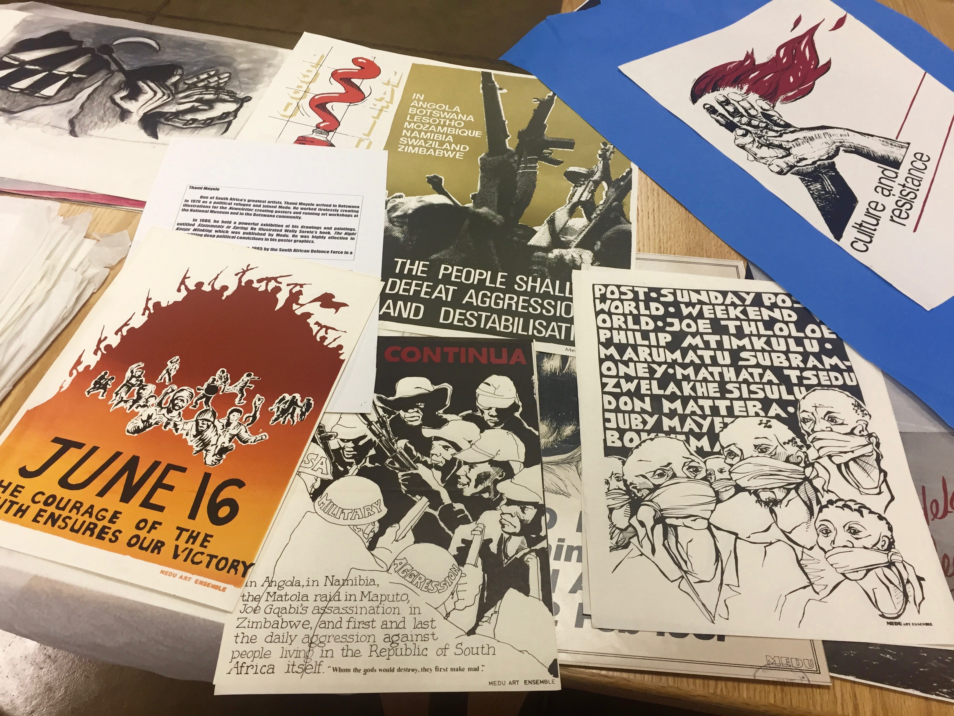 Collection of posters for protests in support of human rights