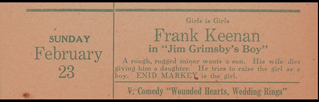 Playbill entry for Jim Grimsby's Boy