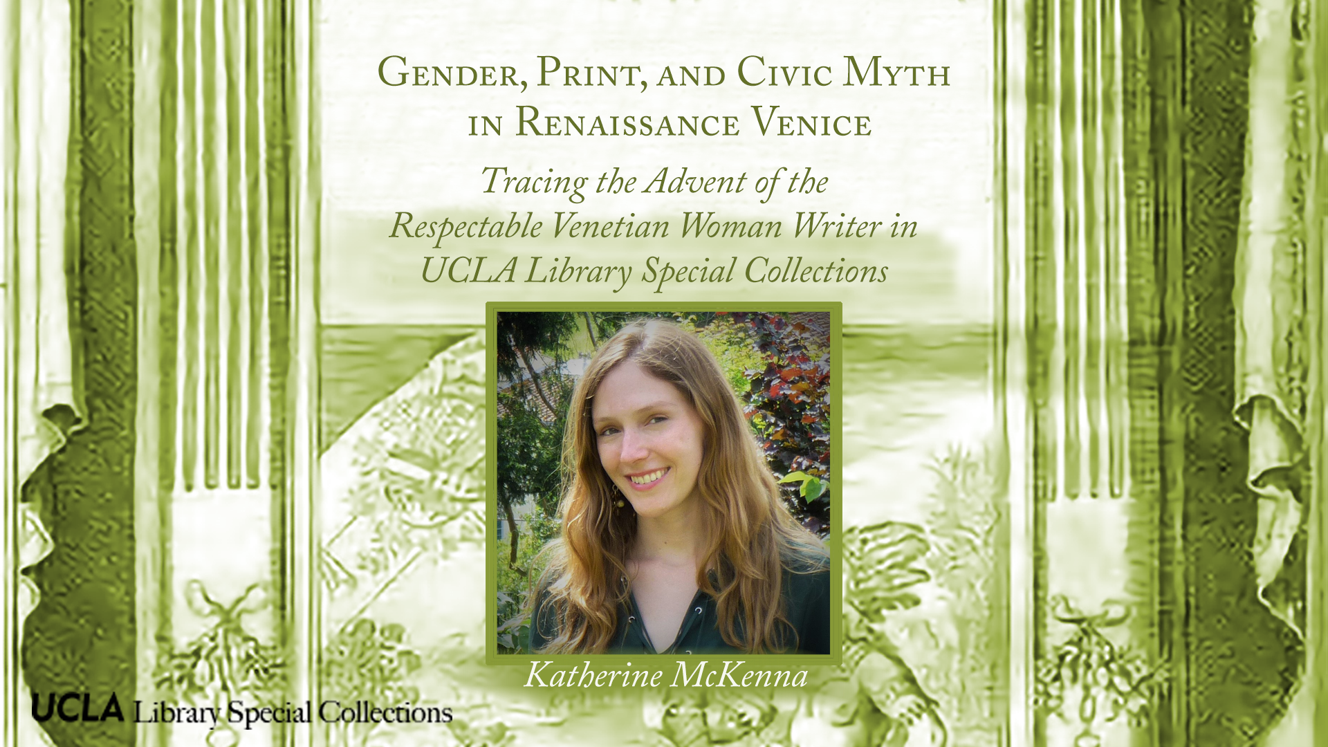 Katherine McKenna: Gender, Print, and Civic Myth in Renaissance Venice