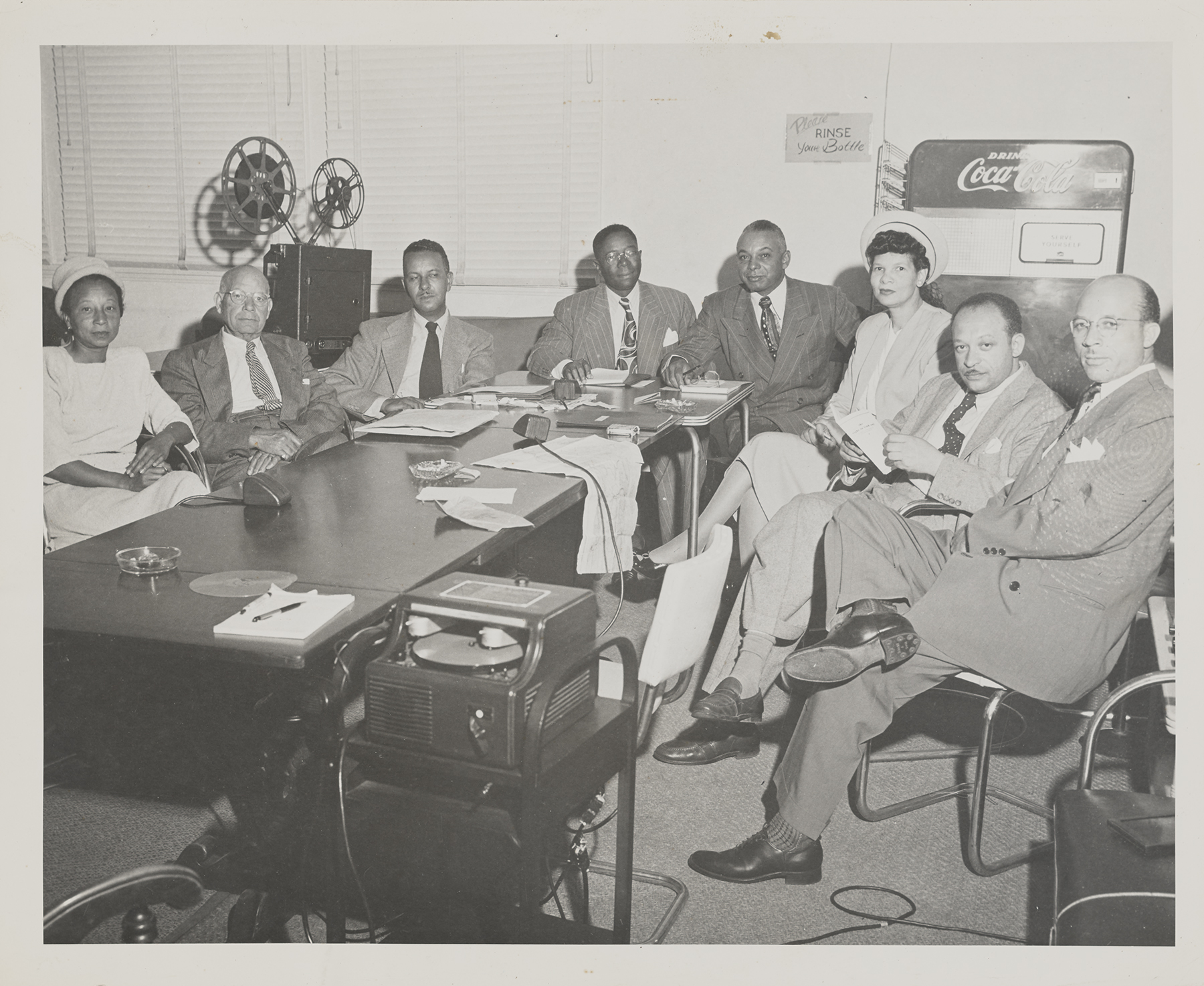 Conference with Mural Artists held at Golden State Mutual LIfe Insurance Company Home Office on September 7, 1948.