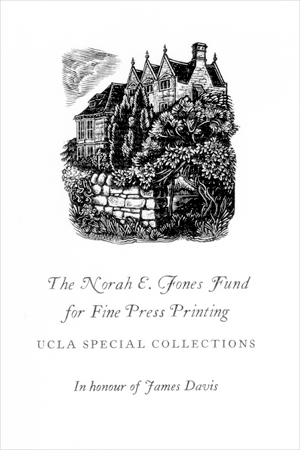 The Norah E. Jones Fund for Fine Press Printing