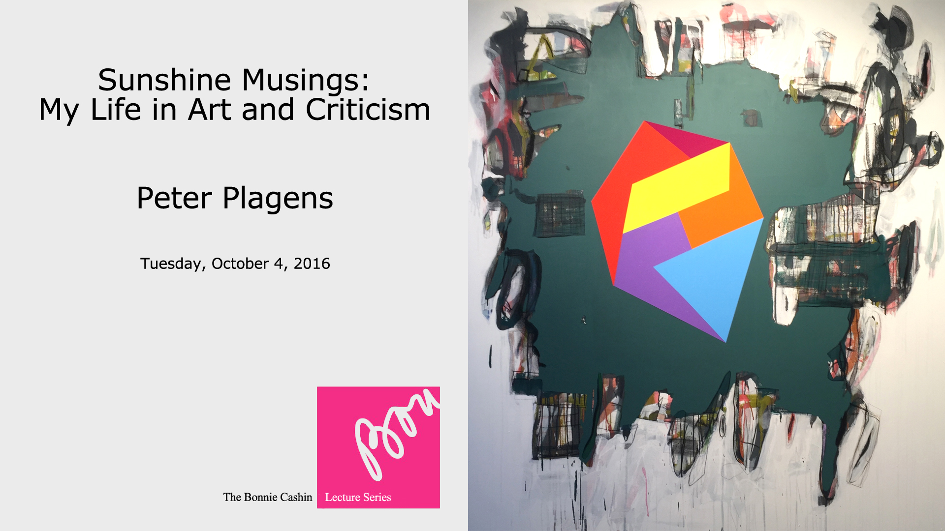 Image of Plagens Lecture Main Title