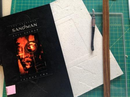 During Conservation Treatment Sandman by Neil Gaiman