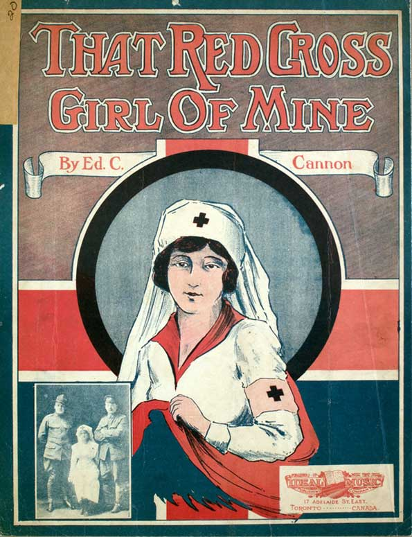 That Red Cross Girl of Mine cover of sheet music
