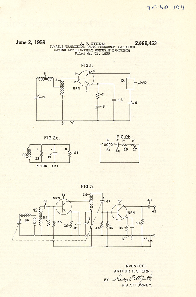 Transistor Radio Frequency Amplifier (1959)
