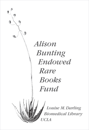 Alison Bunting Endowed Rare Books Fund