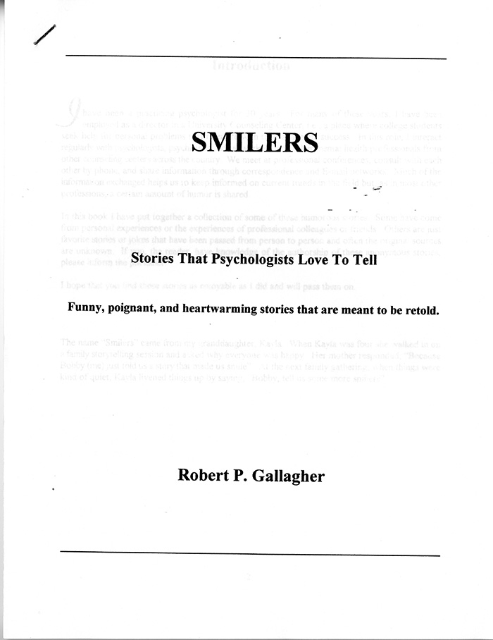 """Image of Title Page for """"Smilers."""""""