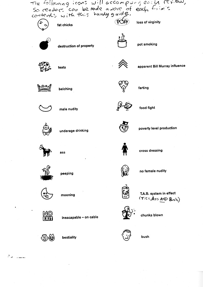 """Image of Guide to icons used in """"I Was a Teenage Teenager!"""""""