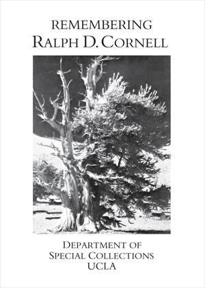 Ralph D. Cornell Memorial Fund for Special Collections
