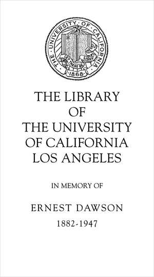 Ernest Dawson Memorial Fund for Books about Books