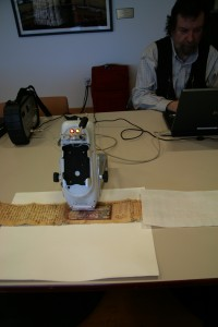 XRF testing on an Armenian Scroll