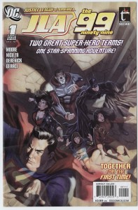 Comic book cover of The 99, issue 1.