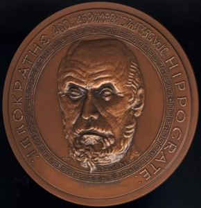 portrait medal of Hippocrates