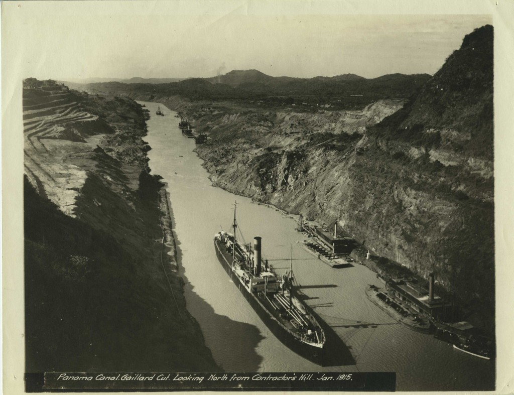 Panama Canal. Gaillard Cut. Looking North from Contractor's Hill. Jan 1915