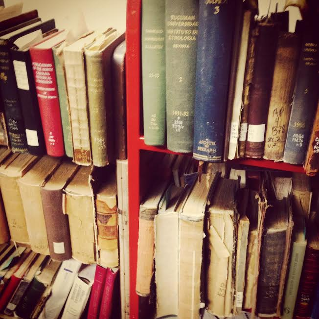 A photograph of books