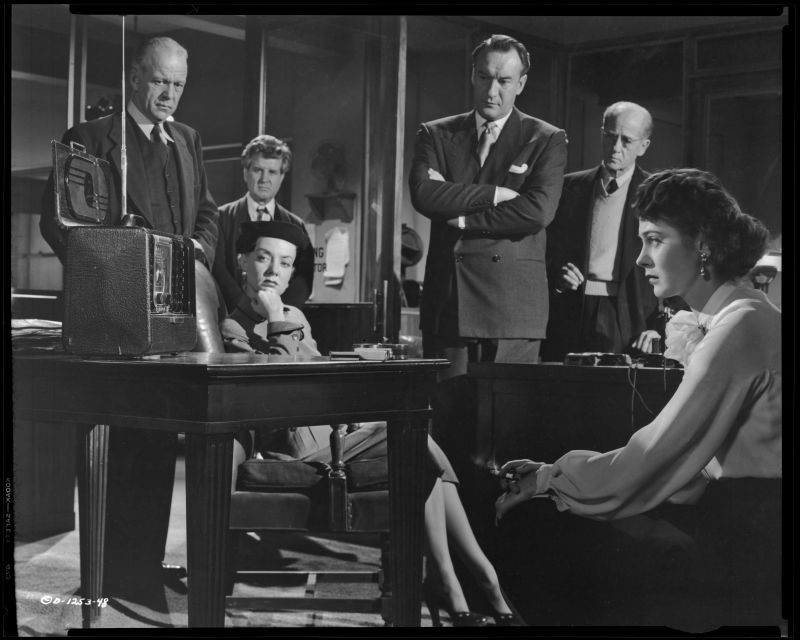 Audrey Totter, Märta Torén, Willis Bouchery, Sandro Giglio and George Sanders in Assignment-Paris, 1952