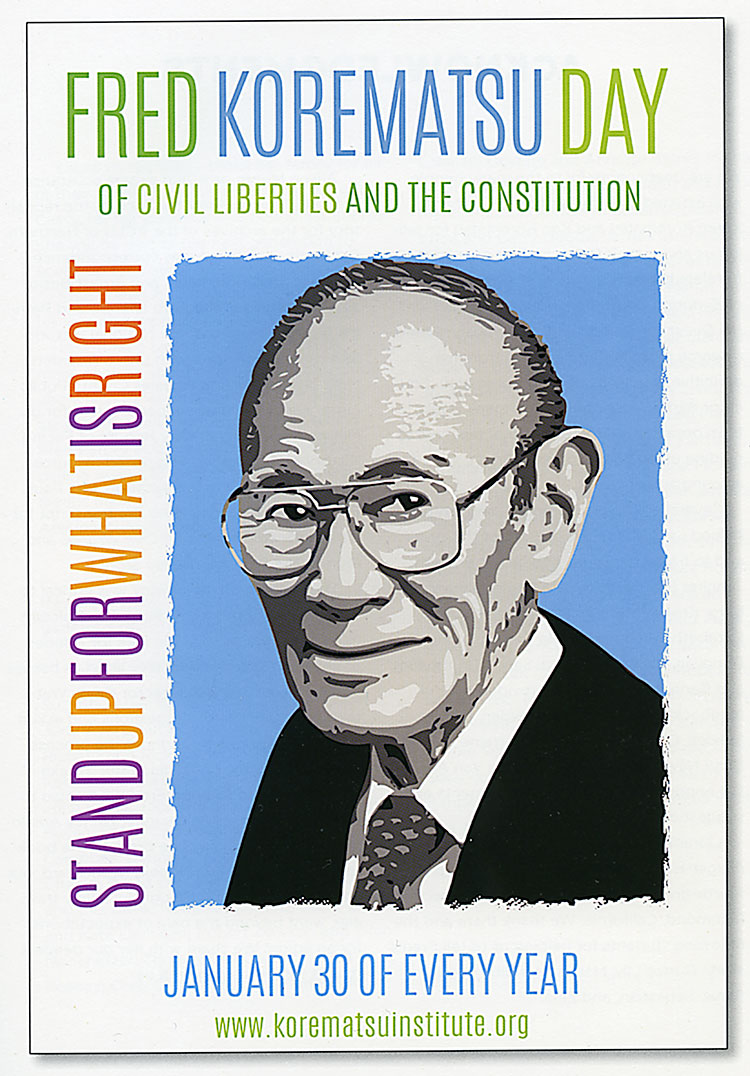 Image of Fred Korematsu Day poster