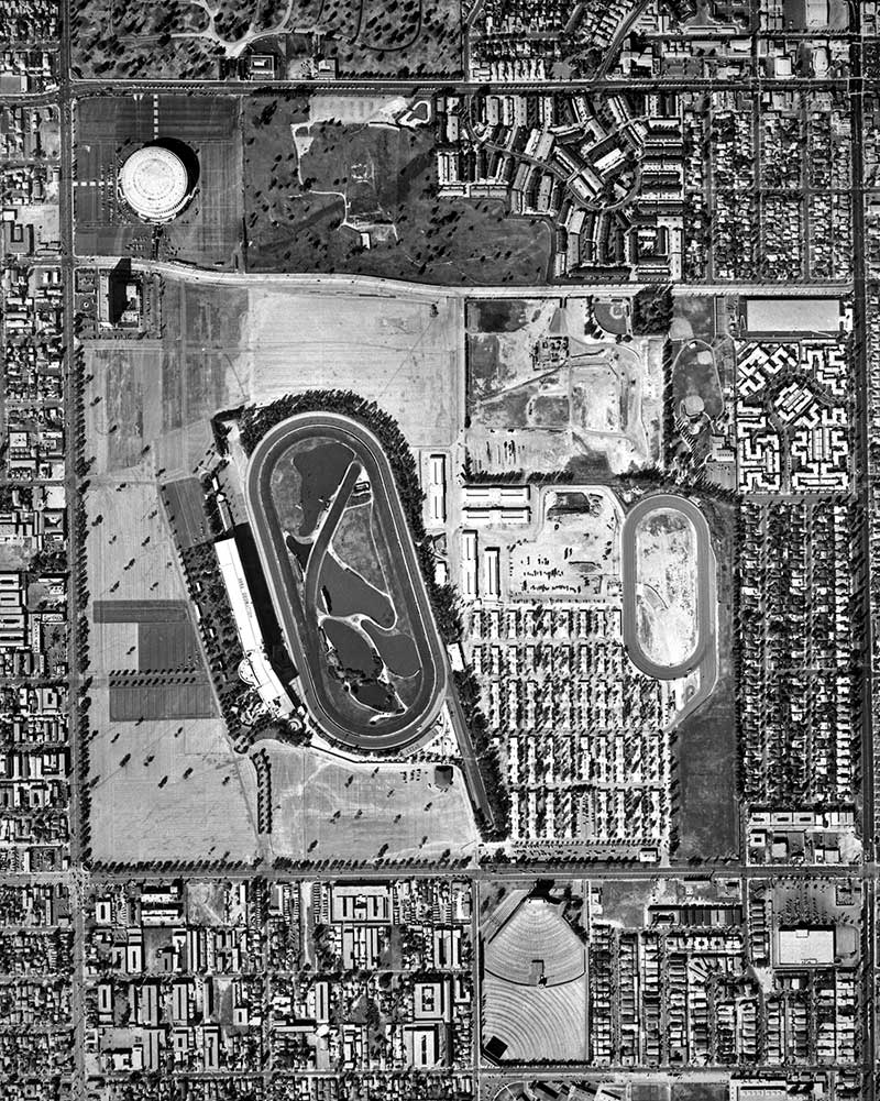 Image of aerial view of Hollywood Park