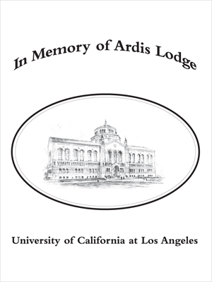 Ardis Lodge Memorial Fund for the Reference Collection