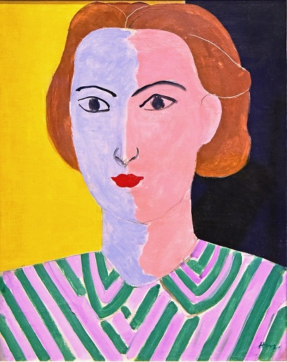 Henri Matisse, Portrait with Pink and Blue Face (1936-1937)