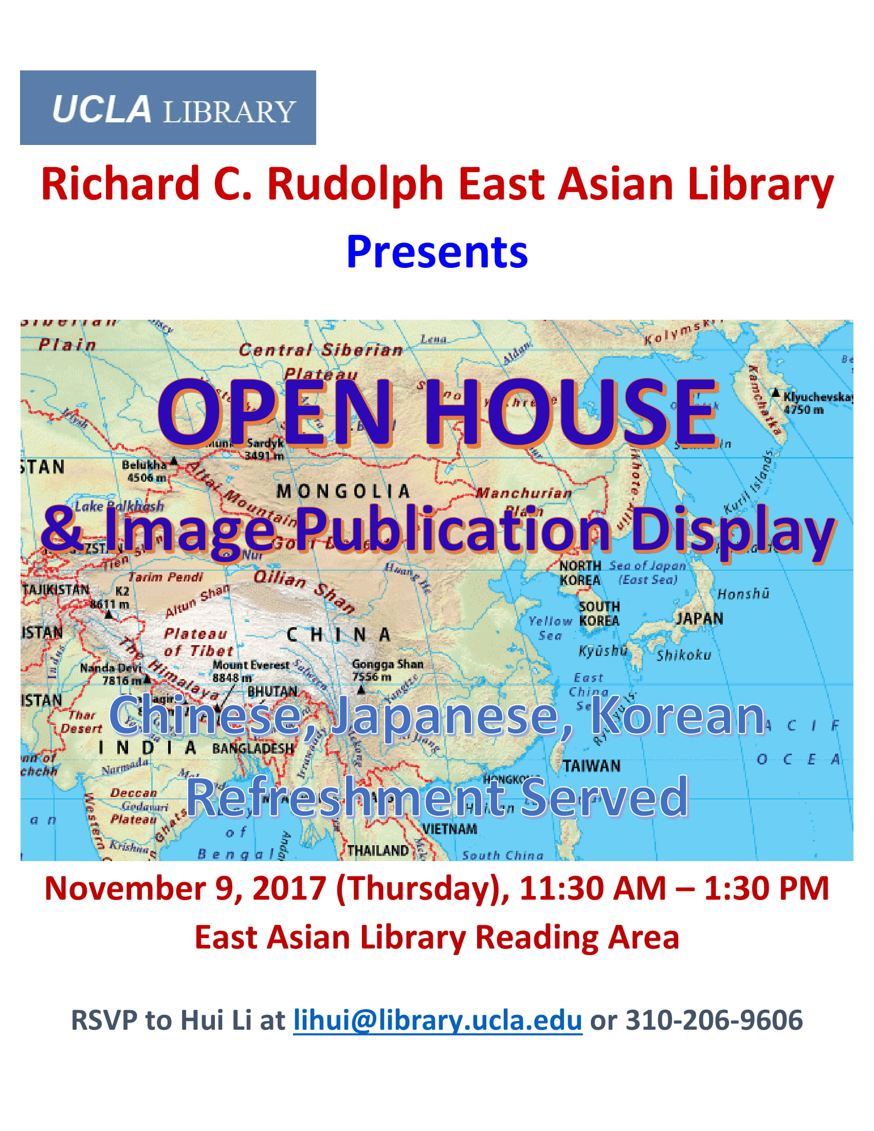 East Asian Library Open House and Image Publication Display