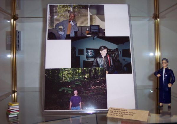 close up of exhibit showing 3 photographs