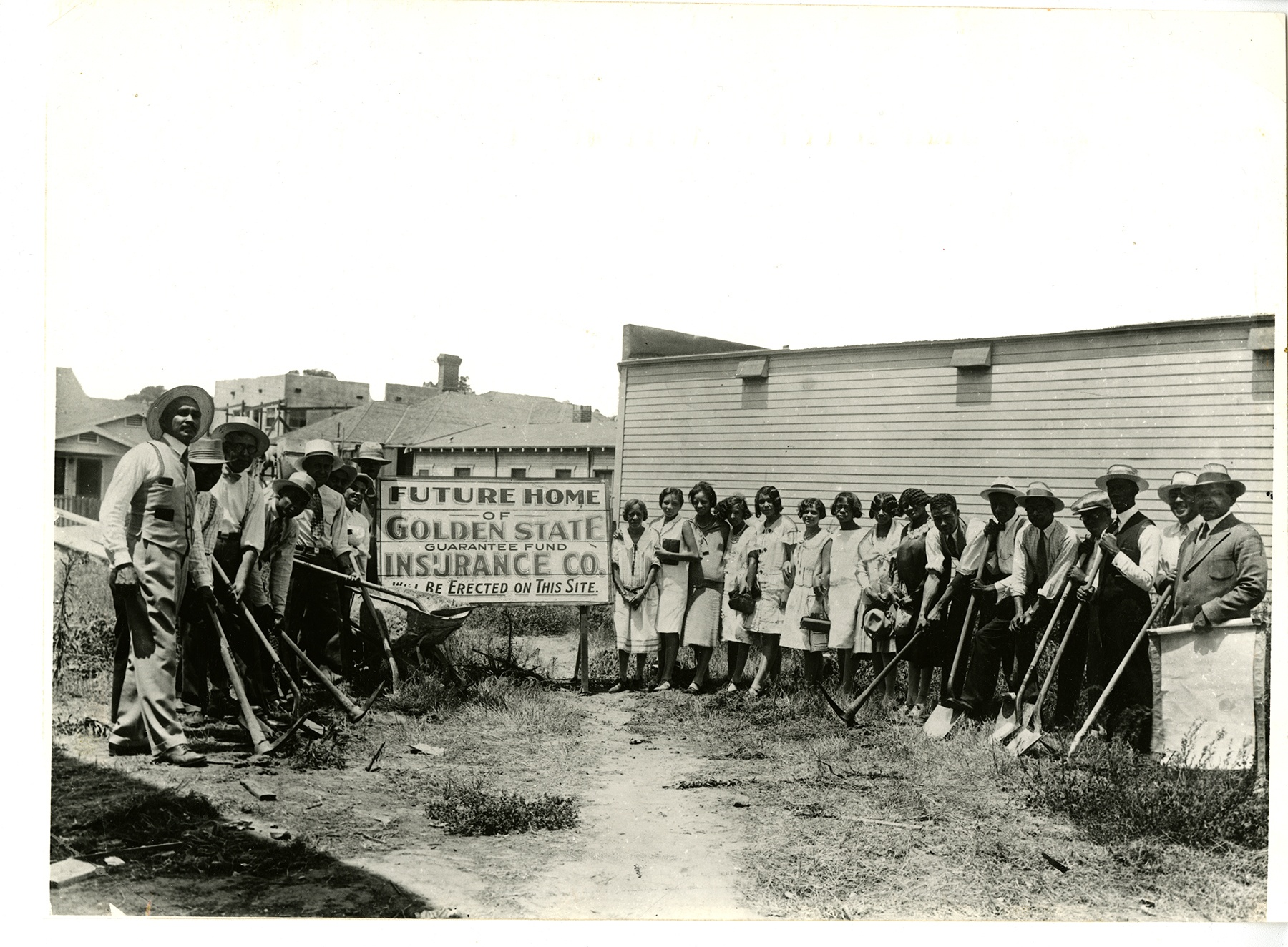 Breaking Ground for the Home Office Building at 4261 Central Avenue (formerly 4111 Central Avenue) on August 7, 1928.