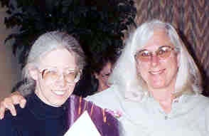 Photo of Valerie Bross (left) and Jan Goldsmith (right)