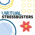 virtual stressbusters icon with flower