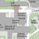 Map image showing location of Louise M. Darling Biomedical Library