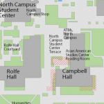 Map image showing location of Asian American Studies Center Library/Reading Room