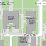 Map image showing location of English Reading Room