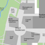 Map image showing location of Eugene and Maxine Rosenfeld Management Library
