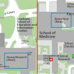 Map image showing location of Library Special Collections