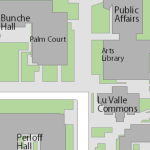 Map showing location of Arts Library