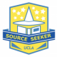 Source Seeker logo with hat and books
