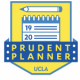Prudent Planner logo with calendar and pencil