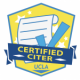 Certified Citer logo with piece of paper and check mark